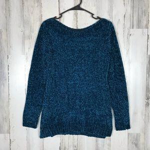 Liz Claiborne | Teal Knit Sweater Small